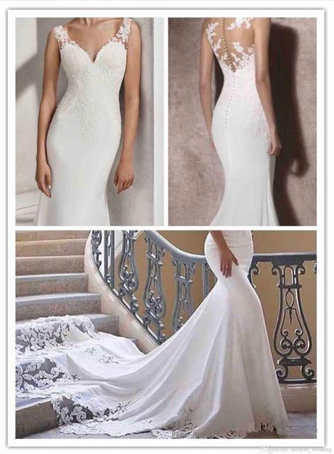 2018 Hot Sale Cheap Mermaid Wedding Dresses Regular Sleeveless ...