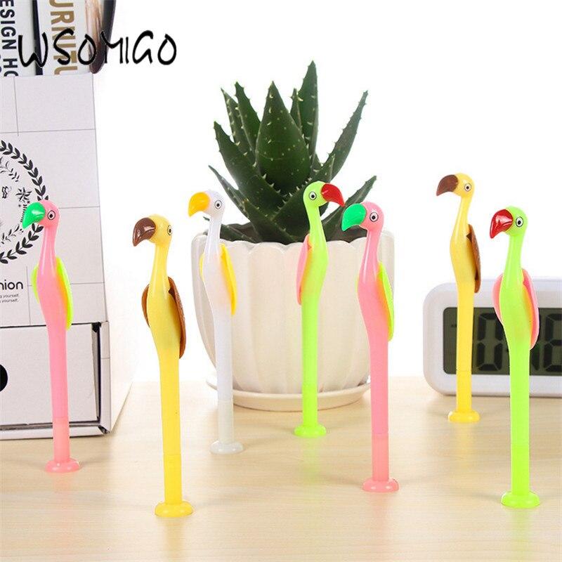 4 шт. Творческий Фламинго постоянная Ручка DIY вечерние украшения поставки ребенок свадебные подарки Decoracion Baby Shower брак Поддержка-b