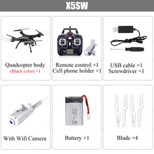 квадрокоптер SYMA X5SW Drone С Камерой Квадрокоптер HD FPV Wifi в Режиме реального времени Дистанционного Управления Вертолет Syma X5SC RC Дрон Quadcopter HD Каме...(China (Mainland))