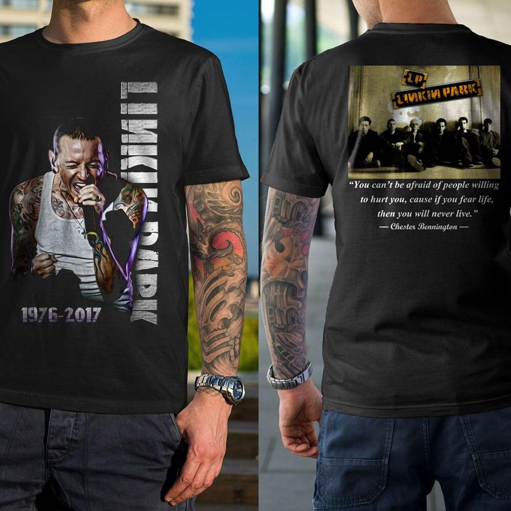88922ca5dcc9 New Linkin Park Bennington Men's T-shirt Black Cotton T Shirts for Men 2018  New