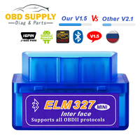 Auto Scanner Automotive OBD 2 Auto Diagnostic Tool OBDII Scaner ELM327 V 1.5 ELM 327 Bluetooth OBD2 v1.5 Android