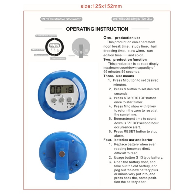 Countdown Timer Count Down Up Alarm Neue Temporizador Digital Mini ...