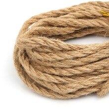 5 m/lote 2/4/6mm arpillera Natural Hessian Cable de hilo de yute cuerda de cáñamo para decoración vintage rústica para boda evento Fiesta suministros