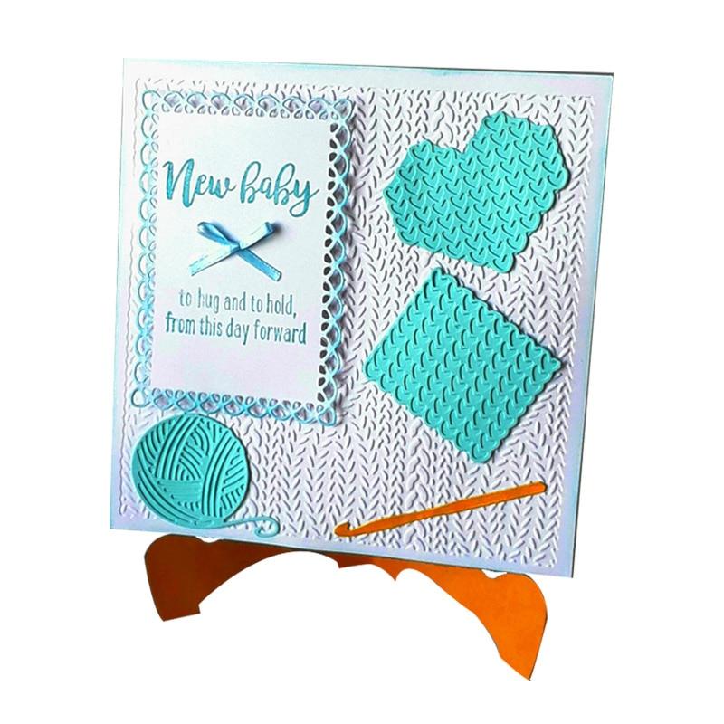 Wool die sweater metal cutting dies hook Sewing scrapbooking die cuts embossing paper stencil decorative for cards making