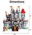 Kits de edificio modelo compatible con lego knights castle 3d modelo de construcción bloques educativos juguetes y pasatiempos para niños
