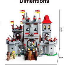 Model building kits compatible with knights Castle 1118pcs 3D blocks Educational model building