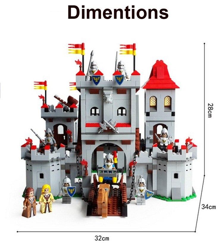 Model Building Kits Compatible With  Knights Castle 1118pcs  3D Blocks Educational Model Building Toys Hobbies For Children
