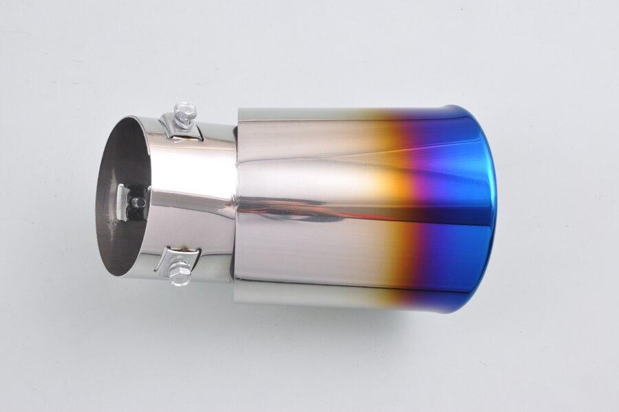 Φ_ΦPara Dazzle universal mitad burnt azul silenciador de escape tail ...
