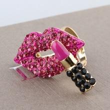R3 Фирменная губная помада винтажный, с серебряным покрытием женское кольцо bijoux(украшения своими руками) известный бренд kpop ювелирные изделия, кольца для женщин, женская обувь