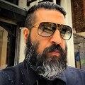 Dolce vision rectángulo aviator gafas de sol hombres diseñador de la marca de lujo gafas de sol de piloto hombres de conducción 2017 tonos luneta masculina