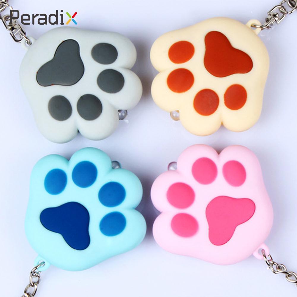 Novelty Keychain Sound Animal Light Up Keyring Handbag Toy Cat Paw