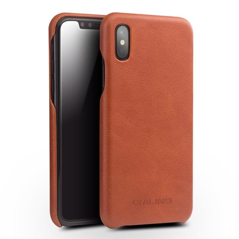 QIALINO Ultra delgado funda de alta calidad para iphone X diseño flip funda de teléfono de lujo de moda para iphone X cuero auténtico