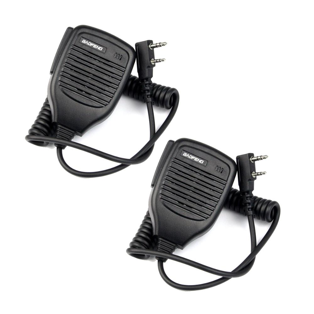 2x 2Pin PTT Speaker Mic Microphone for BAOFENG Retevis Kenwood TYT HYT+track NO цена
