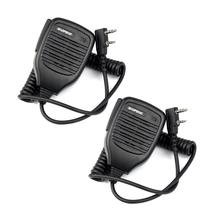 2x 2Pin PTT reproduktor Mic mikrofon pro BAOFENG Retevis Kenwood TYT HYT + stopa NO