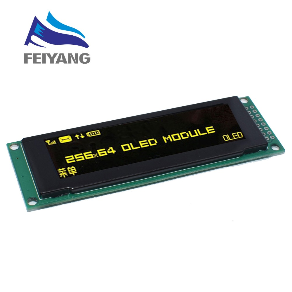 """Image 2 - NEW OLED Display 2.8"""" 256*64 25664 Dots Graphic LCD Module Display Screen LCM Screen SSD1322 Controller Support SPI-in LCD Modules from Electronic Components & Supplies"""