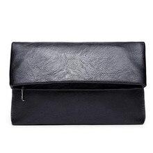 Marca 2016 Recién Llegado de Alta Calidad de Cuero Real Para Hombre Embrague Billetera Marca Hombres Monedero de Gran Capacidad Negro Bolsa de Embrague de Cuero