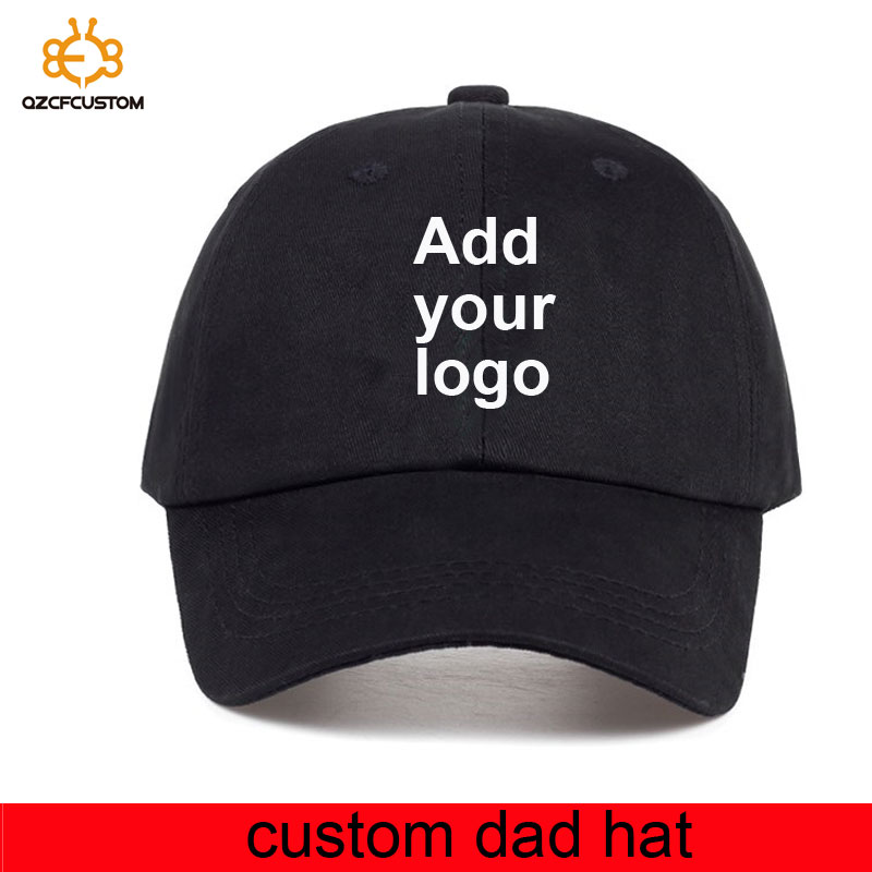 Wholesale Cap 100% Cotton Unstructured Custom Dad Hat Logo Cap Embroidery Make Your Design Logo Dad Cap