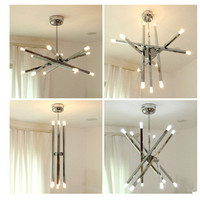 12 Heads Nordic Simple Modern Living Room Chandelier Creative Hotel Lobby Bedroom Dining Room DIY Shape