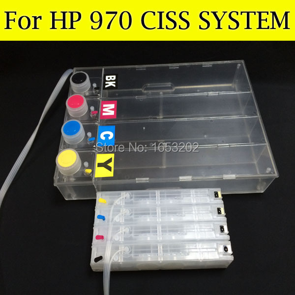 Big Volume 1000ML For HP970 971 970 Ciss System With ARC Chip For HP Officejet Pro X451dn X551dw X476dn X576dw H970