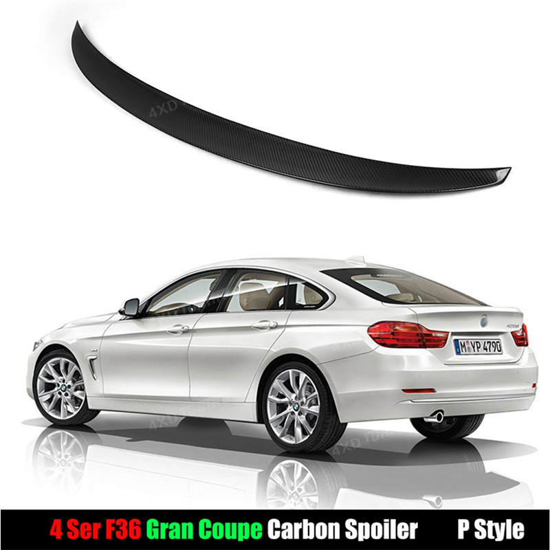 For BMW F36 Carbon Spoiler Performance Style Gran Coupe 4 Series F36 Carbon Fiber Rear Spoiler Bumper Trunk Wing styling 2014+ addi 5 5 20 5