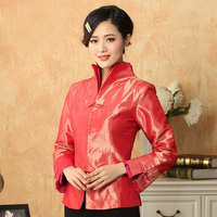 Spring Autumn New Arrival Women's Silk Satin Jacket Chinese Formal Costume Vintage Tang Suit Solid Color Slim Coat MNY022104
