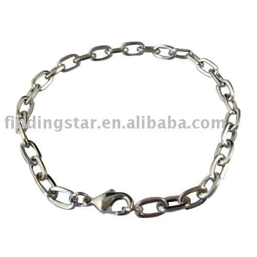 50pcs Silver Tone Lobster clasp chain bracelets FREE SHIPPING M18935