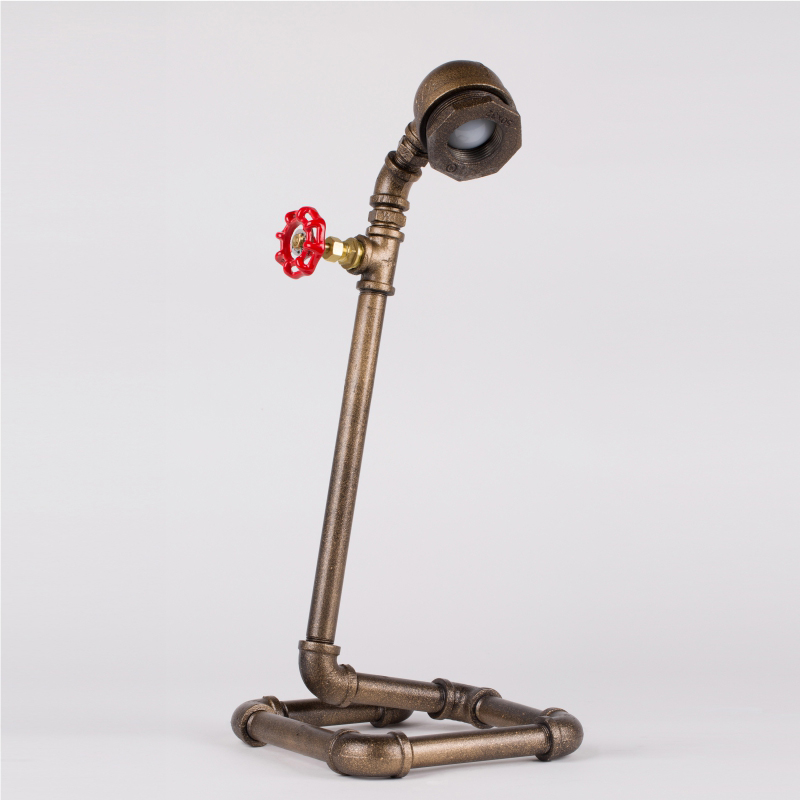 LED Lamp Bulb Vintage Table Lamps Water Pipe Table Lights Desk Book Study Lamp E27 Loft/Coffee Shop Bar Lamp-FJ-DT1S-028A0 loft led light iron pipe lamp bronze water pipe desk lamps table lamps decorate study room bedroom cafe bar fj dt1s 012a0