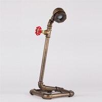LED Lamp Vintage Tafel Lampen Waterleiding Tafellampen Bureaulamp Boek Studie Lamp E27 Loft/Koffie Winkel Bar Lamp-FJ-DT1S-028A0