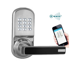 Wireless APP Smart Z-wave Door Lock with keypad, Keyless and remotely control for Apartment or Hotel or Home bluetooth smart electronic keyless keypad home entry door lock with smartphone controlled for hotel and apartment compatible