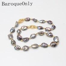 BaroqueOnly три способа носить Смешанные Цвета барокко натуральный пресноводный жемчуг ожерелье свитер цепь Новое поступление NS