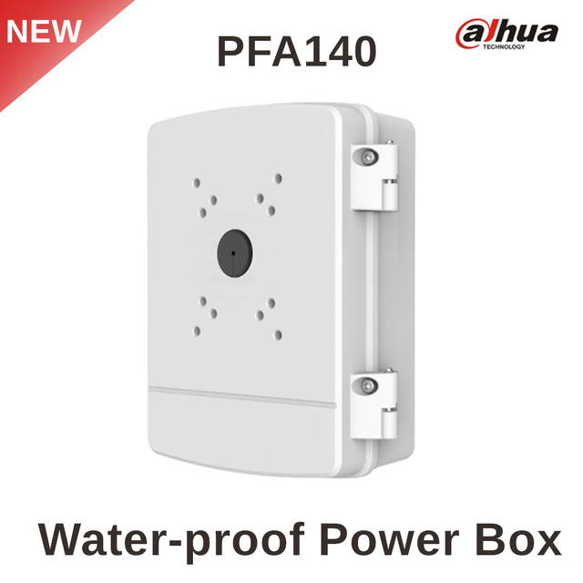 DAHUA Water-proof Power Box PFA140 CCTV camera Bracket Aluminum & SECC IP66 Power Box Neat & Integrated design airhole маска airhole standard snow tiger размер 61 63