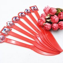 10pcs Ladybug Plastic Party Knives Supplies 2nd Girls Birthday Party/Children's Day Decorations Ladybug Disposable Paper Knives(China)