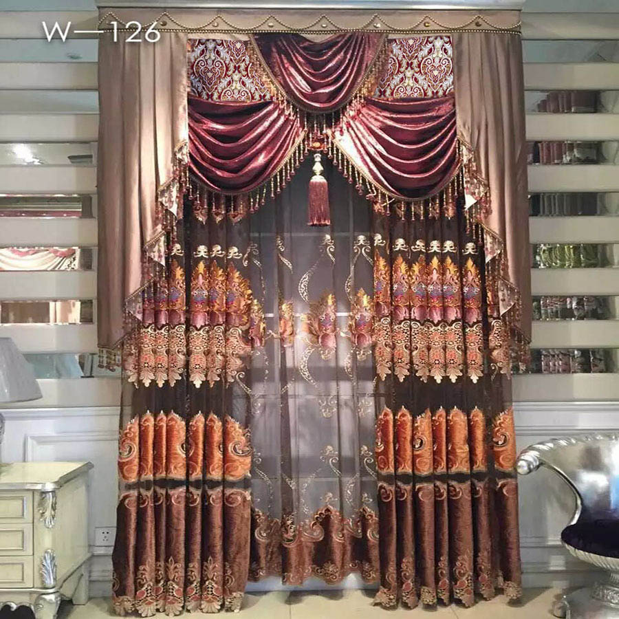 Living room curtains 2016 -  Nice New Egypt Luxury Magnetic Curtain For Living Room Brown Golden Embroidery Door Hotel Crystal Bead