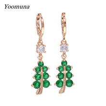 Fashion Rose Gold Dangle Earrings Cubic Zirconia Hook Earrings Charm Drop Earrings for Women crystal Jewelry цена и фото