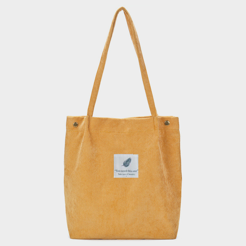 91f8c55ff5f5 Women Corduroy Shoulder Bag Eco Green Shopping Bag Ladies Large Foldable  Grocery Pouch Package Travel Casual Handbag Beach Tote