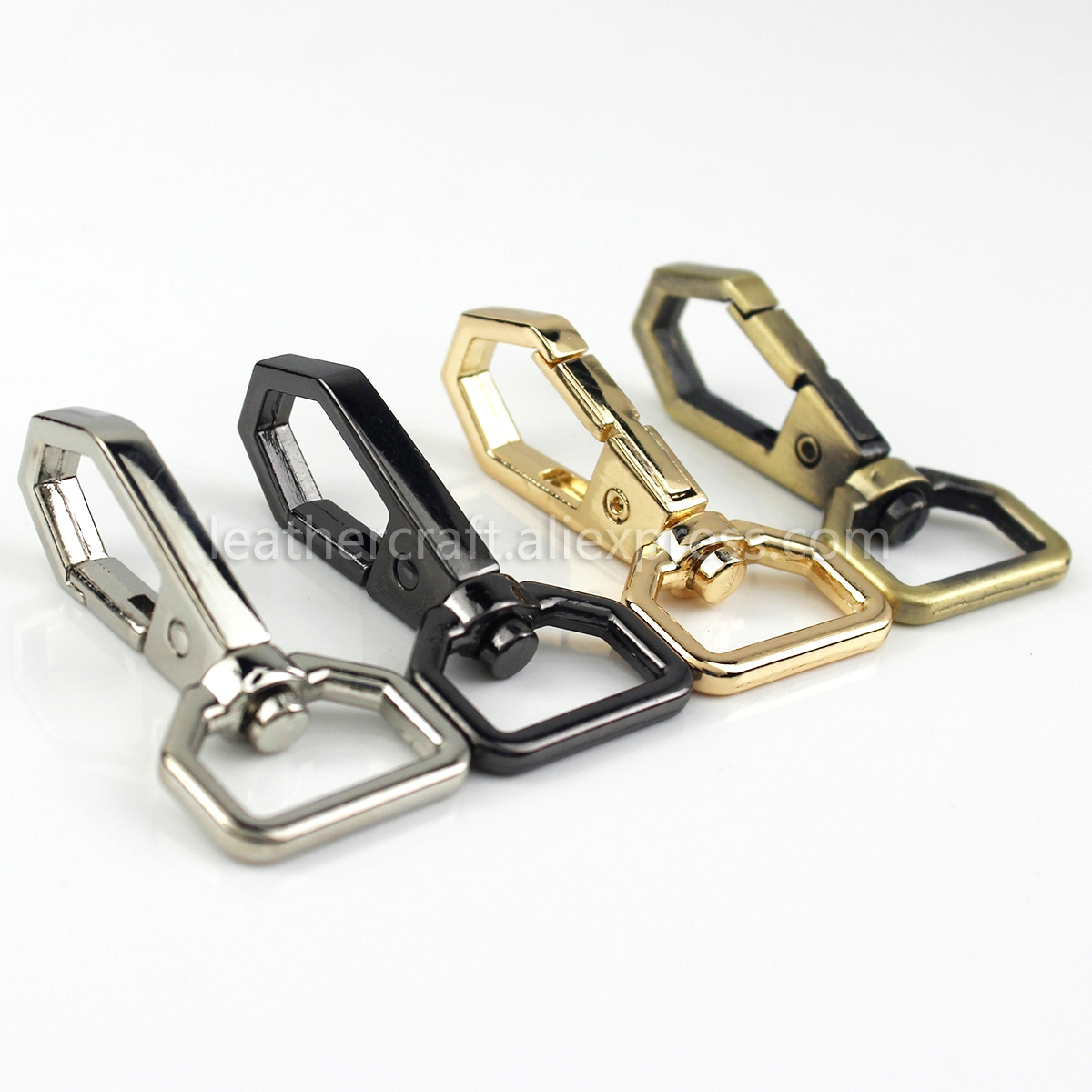 Zinc Alloy Bag Belting Pets Dog Strap Trigger Snap Lobster Clasp Hook 10pcs