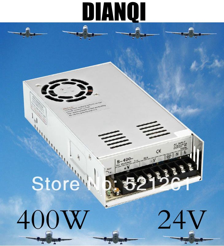купить power suply 24v 400w ac to dc ac dc converter  400W 24V 17A Single Output Switching power supply for LED AC to DC smps S-400-24 онлайн