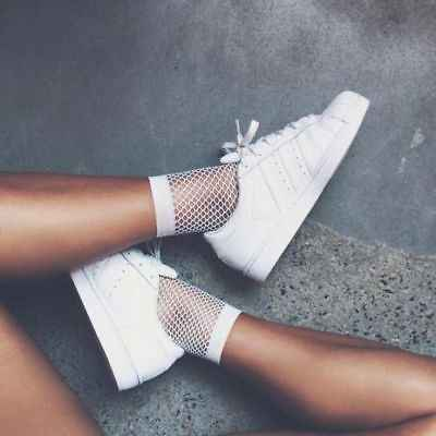 Fashion Women Sexy Thin Crystal Fishnet Elastic Stretch Socks Big Fish Net Hollow Out Hosiery Hot