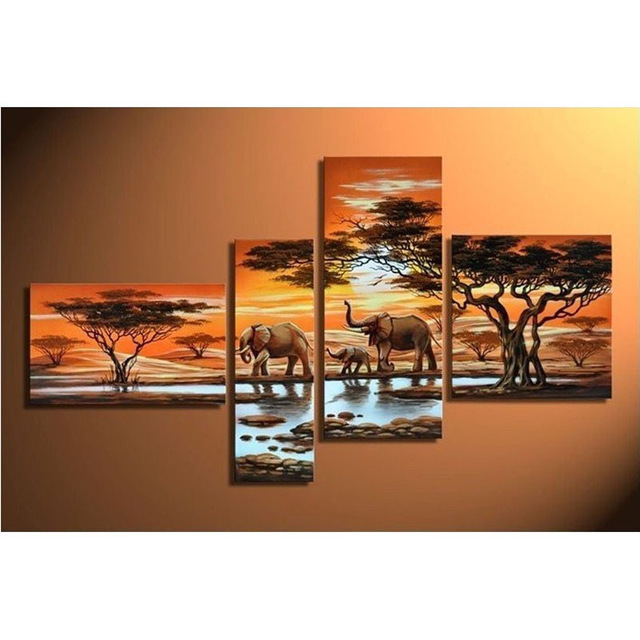 3d 4pcs diamond painting cross stitch painting full square