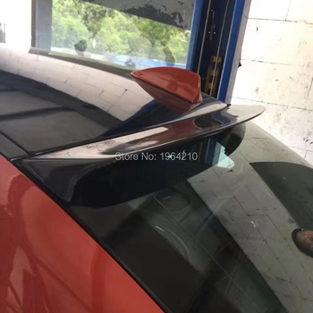 Car Styling Carbon Fiber Rear Roof Spoiler Trunk Boot Wing For BMW 1 series E82 E88 1M M-sport sedan image