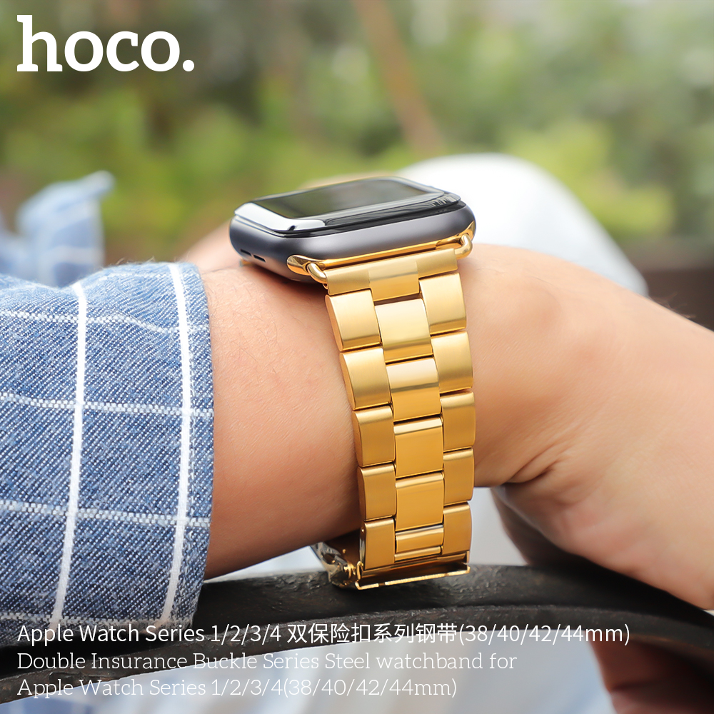 Image 3 - HOCO Bracelet Steel Band For Men Compatible With Apple Watch Series 4 3 2 1 Accessories Adapter For Iwatch 44mm 42mm 40mm 38mm-in Watchbands from Watches