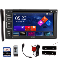 Auto Touch Screen GPS Car DVD Audio System Capacitive Stereo Sub Radio Autoradio 2 Din MP3