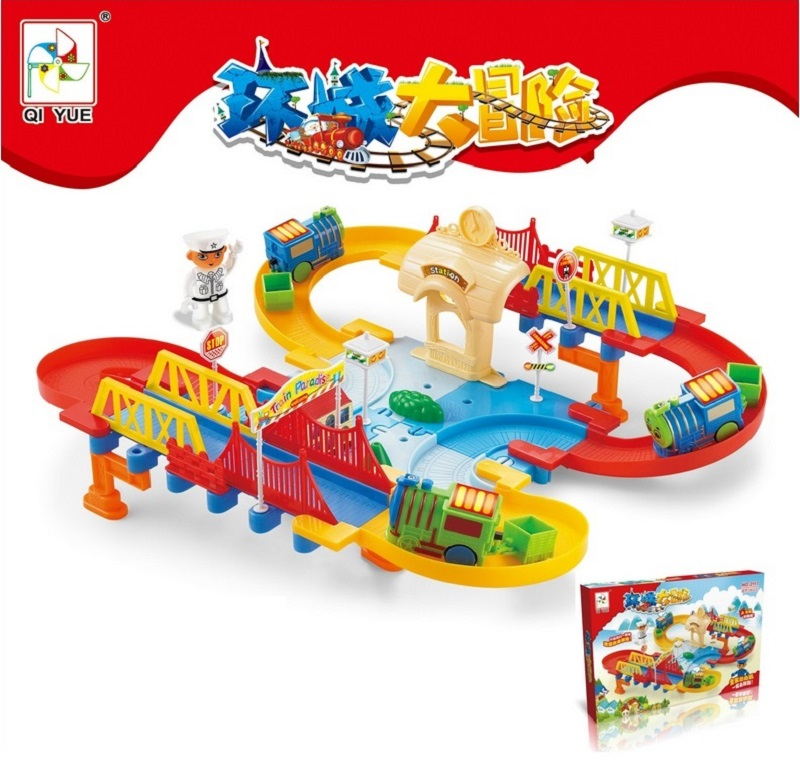 ФОТО Ring Big Adventure II DIY Track Electric Train Building Block Toys Gift Learning&Educational Toys for Chilren 2117 Withno Box