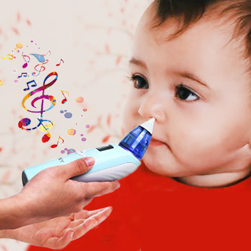 Top Quality Baby Nasal Aspirator with 2 SILICONE TIPS Safe Hygienic Nose Snot Cleaner Suction nariz For Newborn Baby Toddler