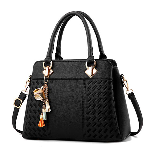Women Handbags Tassel PU...