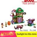 41174 348pcs Elves The Starlight Inn Kits minis Model Building Bricks Set Brick Toys For Children compatible 10502 Gift