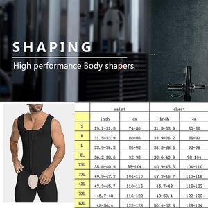 Image 5 - 연인 미용 슬리밍 바디 셰이퍼 플러스 사이즈 6XL Tummy 셰이퍼 조끼 속옷 코르셋 허리 Cincher 남성 Bodysuit