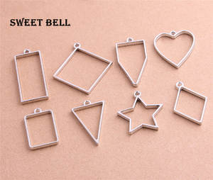 Sweet Bell 16pcs mix heart star Hollow pendant charms