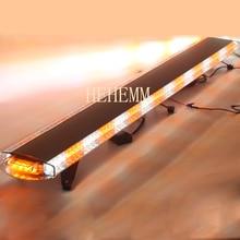 цена на HEHEMM 136W Strobe Warning Light Bar Waterproof Flashing Beacon Emergency Lights Car Vehicles Amber