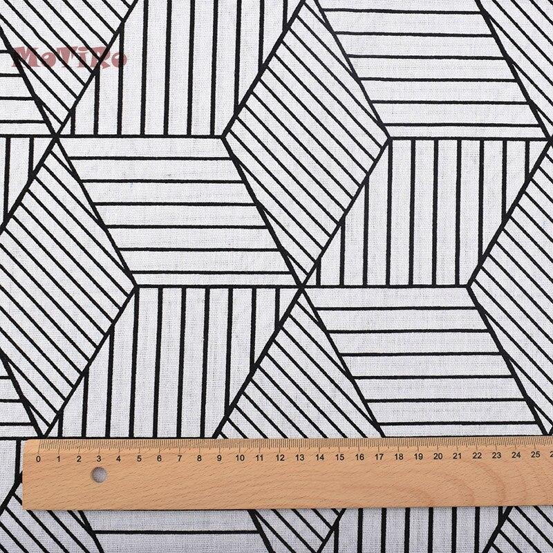 MoTiRo, tejido de lino de algodón impreso, medio metro, patrones ...